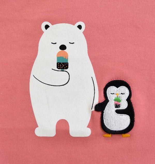 بلوز طرح خرس و پنگوئن