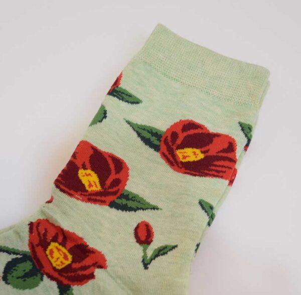 جوراب گلدار