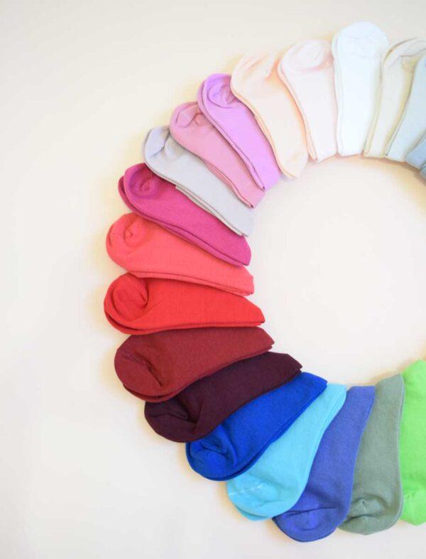 جوراب نیم ساق رنگی