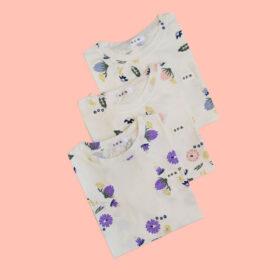 تیشرت سفید گل دار