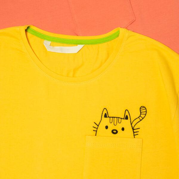 تیشرت گربه گلدوزی